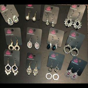 Lot of 12 paparazzi earrings